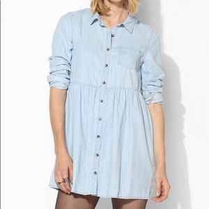 Urban outfitters chambray babydoll dress